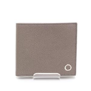 ブルガリ BVLGARI 二つ折り財布 30397 グレージュ シルバー金具 未使用品|kadusaya78