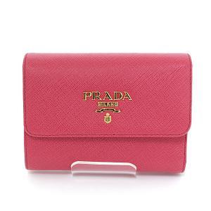 プラダ PRADA サフィアーノレザー財布 1MH025 QWAF0505 三つ折りウォレット ペオニア ピンク ゴールド金具 未使用品 kadusaya78