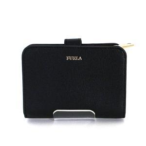 フルラ FURLA バビロン BABYLON 二つ折り財布 PBF8 ブラック ゴールド金具 コンパクトウォレット 未使用品 kadusaya78