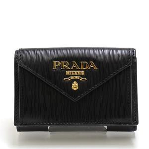PRADA プラダ 三つ折り財布 1MH021 VITELLO MOVE I(カーフレザー) NERO(黒)ゴールド金具 未使用品 kadusaya78