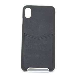 ルイヴィトン LOUIS VUITTON IPHONE・バンパー XS MAX タイガ・レザー ブラック 黒 M30225 アイフォンケース 中古|kadusaya78