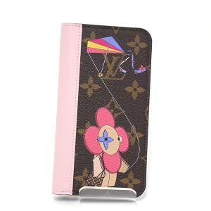 ルイヴィトン IPHONE X & XS・フォリオ 日本限定 モノグラム ヴィヴィエンヌ ブラウン/ピンク/マルチカラー M69070 手帳型 アイフォンカバー 未使用品|kadusaya78