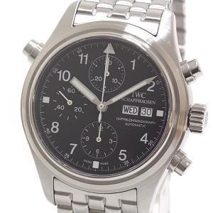 IWC メンズ腕時計 ドッペル クロノグラフ IW371319 ブラック(黒)文字盤 自動巻き【中古】|kadusaya78