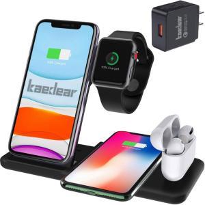 Kaedear (カエディア) ワイヤレス充電器 iphone / apple watch 6 (O...