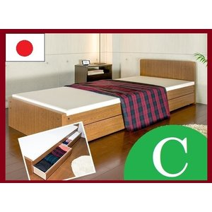 パネルベッド 319-C 319C 品番113403 SS セミシングルベッド 日本製 布団でもスプリングマットでもウレタンマットでも使用できるコンパクトベッド|kaedeinterior
