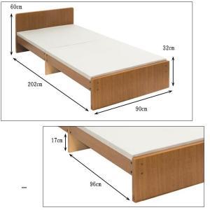 パネルベッド 319-A 319A 品番113405 SS セミシングルベッド 日本製 布団でもスプリングマットでもウレタンマットでも使用できるコンパクトベッド|kaedeinterior|04
