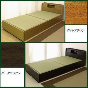 畳ベッド シングルサイズ A151 A-151 標準畳 品番113502 日本製 S シングルベッド ワイドな宮に照明と収納引出し付き 和室でもフローリングでも 木製ベッド|kaedeinterior|02