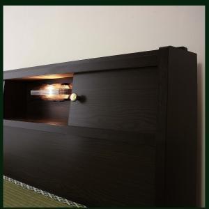畳ベッド シングルサイズ A151 A-151 標準畳 品番113502 日本製 S シングルベッド ワイドな宮に照明と収納引出し付き 和室でもフローリングでも 木製ベッド|kaedeinterior|03