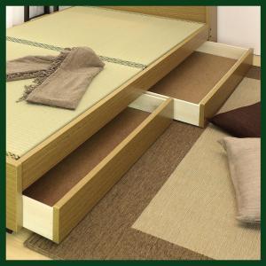 畳ベッド シングルサイズ A151 A-151 標準畳 品番113502 日本製 S シングルベッド ワイドな宮に照明と収納引出し付き 和室でもフローリングでも 木製ベッド|kaedeinterior|04