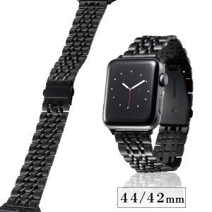 エレコム Apple Watch バンド 44mm / 42mm ステンレス [7連設計で、フィット感に優れた着け心地] 長さ調整工具付き ブラック AW-44BDSS7BK AW-44BDSS7BK|kaedenomori