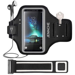 Galaxy Note9/8ランニングアームバンド JEMACHE 防汗 軽量 小物収納 スポーツ ...