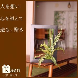 グリーン 苔玉 フレーム 造花 お誕生日 退職祝い 結婚  男性 送料無料 還暦 長寿 ギフト プレゼント|kaen
