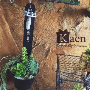 リビングや書斎に!吊るして飾るインテリア多肉植物寄せ植え蛇口デザイン(フェイクグリーン)|kaen