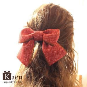 赤 リボン 髪飾り 卒業式 袴  成人式 和装 振袖  入学式 七五三 結婚式 パーティー|kaen