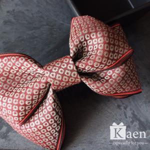 えんじ色 リボン 髪飾り 卒業式 袴  成人式 和装 振袖  入学式 七五三 結婚式 パーティー|kaen