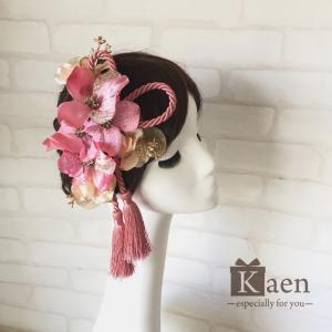 ピンク ハナミズキ和装髪飾り 成人式 和装 振袖 卒業式  入学式 七五三 結婚式 パーティー|kaen