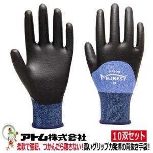 ケミソフトラプター ハーフディップ 1489 手袋 アトム 業務用手袋 特価10双セット|kaerukamo