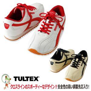 安全靴 タルテックス AZ-51610 ホワイト×レッドライン 001   ベージュ×ブラックライン 002 スニーカー安全靴|kaerukamo