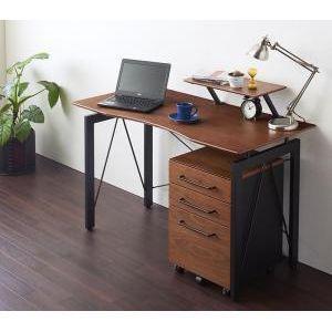 選べる組み合わせ 異素材デザインシステムデスク【Ebel】エーベル 2点セットA/デスク+ワゴン[1D][00]