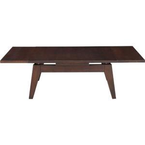 伸縮木製リビングテーブル 幅80/130cm ブラウン 伸縮木製リビングテーブル 幅80/130cm ブラウン cpn-107br|kag-deli