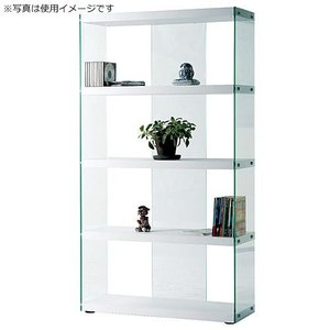 ガラスオープンラック ハブ ホワイト 幅83cm高さ150cm ガラスオープンラック ホワイト 幅83cm高さ150cm hab-624wh|kag-deli