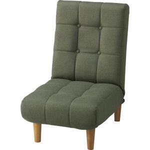 1人掛けリクライニングソファ 幅50cm 布張 脚取外しローソファ可能 ポケットコイル ジョイン グリーン kag-deli