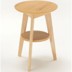 サイドテーブル ナチュラル 円形 丸型 机 テーブル ミニテーブル コーヒーテーブル ラウンドテーブル ソファーテーブル ベッドサイドテーブル 丸テーブル 木製|kag-deli