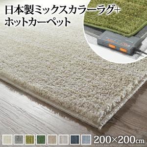 ホットカーペット 2畳 (200x200cm) ミックスカラ...