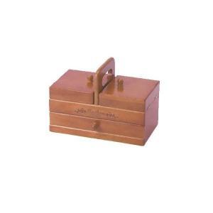 送料無料 木製手芸裁縫箱 ソーイングボックス509 202-509(同梱・代引不可)の写真