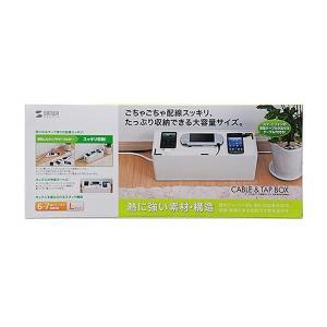 送料無料 サンワサプライ ケーブル&タップ収納ボックス CB-BOXP3WN2