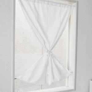 日本製 国産 透けない 断熱 小窓用 レースカーテン 70×120cm  ( レース カーテン 採光 ) 送料無料 送料込