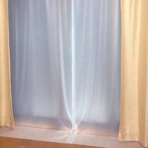 断熱 紫外線 ビニール カーテン 冷気 保温 省エネ ( 採光タイプ ) 150cm×225cm×2枚セット ホワイト  ( レースカーテン レース 採光 ) 送料無料 送料込