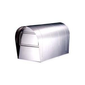 ポスト 郵便ポスト 郵便受け スタンド型ポスト 置き型 屋外用 玄関 設置 ステンレス 防水 シルバー アメリカン 新聞受け|kag