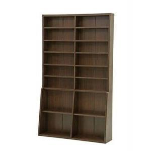 本棚 書棚 書庫 大容量 文庫本 幅120 ブラウン 茶色 ( チェスト キャビネット 引き出し 収納 タンス 木製 ラック 棚 衣類収納 整理 コンソール )の写真