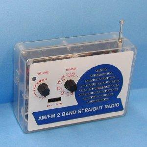 AM/FM2バンドストレートラジオ|kagaku