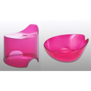 バスチェア&ウオッシュボールセット(バスチェアー 洗面器  セット バス チェアー シャワーチェア ウォッシュボール):1t95833-19584h2|kagami