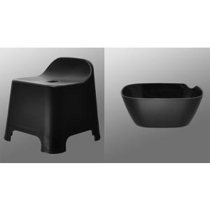 バスチェア&ウオッシュボールセット(バスチェアー 洗面器  セット バス チェアー シャワーチェア ウォッシュボール):2t08620-20862h6|kagami