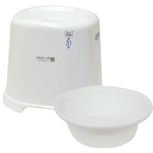 バスチェア&ウオッシュボールセット(バスチェアー 洗面器  セット バス チェアー シャワーチェア ウォッシュボール):2t10140-19304h8|kagami