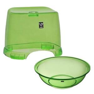 バスチェア&ウオッシュボールセット(バスチェアー 洗面器 セット バス チェアー シャワーチェア ウォッシュボール) :2t2159h1|kagami