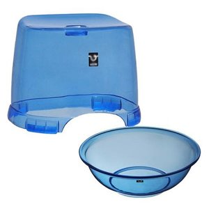バスチェア&ウオッシュボールセット(バスチェアー 洗面器 セット バス チェアー シャワーチェア ウォッシュボール) :2t2159h2 kagami