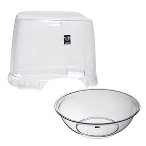 バスチェア&ウオッシュボールセット(バスチェアー 洗面器 セット バス チェアー シャワーチェア ウォッシュボール) :2t2159h3|kagami