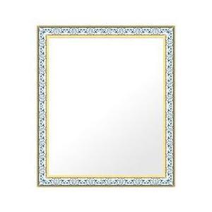 フレームミラー 鏡 ミラー 壁掛け鏡 ウオールミラー(パステルカラーやユニークな色):4011wb-w475mmxh576mmxd34mm-se