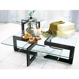 ガラステーブル センターテーブル リビングテーブル(ガラス コーヒーテーブル トレーテーブル リゾートテーブル)|kagami