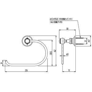 タオルリング タオル掛け(タオルハンガー タオルかけ タオルラック アンティーク 真鍮) :CE-HcR63609-ArB|kagami|02
