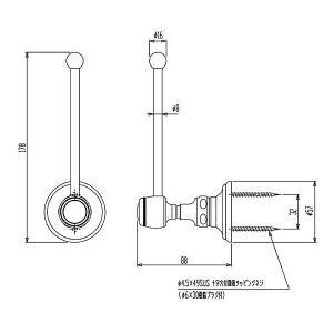 スペアペーパーホルダー ペーパーストッカー(スペア トイレペーパーホルダー ロールペーパーホルダー):CE-HcR63618-ArB|kagami|02