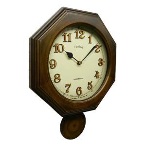 時計 クロック 掛け時計 掛時計 壁掛け時計  ( 電波時計、電波掛け時計 )( アンティーク、レトロなデザイン )( 振り子時計 ) :DsQL63t5|kagami|02