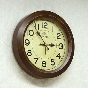 時計 クロック 掛け時計 掛時計 壁掛け時計( 電波時計、電波掛け時計 )( アンティーク、レトロなデザイン ):DsQL68t2AN|kagami|04