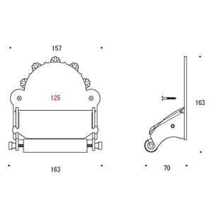 ペーパーホルダー トイレットペーパーホルダー(真鍮 トイレペーパーホルダー)(中央差しタイプ):g-6g4030k1-ki|kagami|02