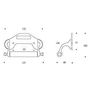 ペーパーホルダー トイレットペーパーホルダー(真鍮 トイレペーパーホルダー)(中央差しタイプ):g-6g4031k0-ki|kagami|02