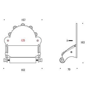 ペーパーホルダー トイレットペーパーホルダー(真鍮 トイレペーパーホルダー)(中央差しタイプ):g-6g4032k1-ki|kagami|02